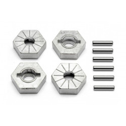 HEX WHEEL HUB 17MM (SILVER