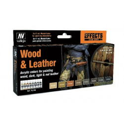 WOOD & LEATER, 8 COLOR SET