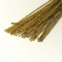Chenille metal 6 mm, guld