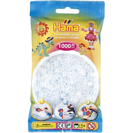 19 Transparent Hama midiperler i pose