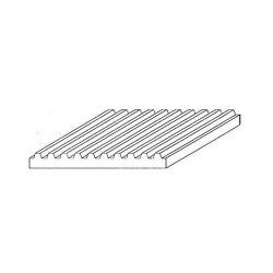 Plade trapezplade 1,0 mm/1,0 mm hvid