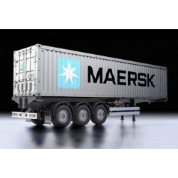 MAERSK 40ft container m. semi trailer