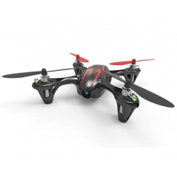 Hubsan HD camera Quadrocopter 4 ch.incl.sort/rød