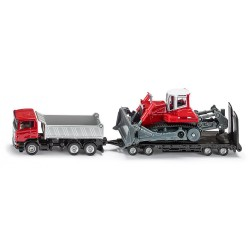 Truck with Trailer and CompactExcavator