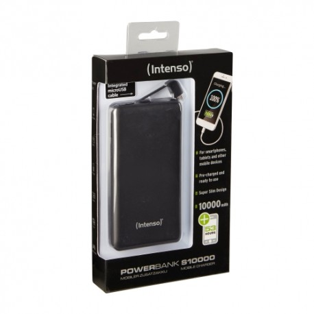 Intenso Slim S10000 Powerbank - Sort - 10000 mAh