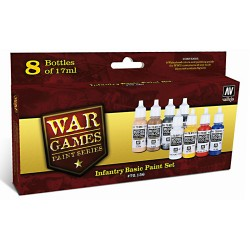 INFANTRY BASIC PAINT SET-8 COLOR SET